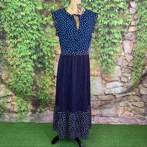 BODEN Layered Chiffon Polka Dot Maxi Dress, 10R